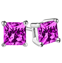14 KARAT WHITE GOLD PINK TOURMALINE PRINCESS. Choose From 0.25 CTW To 10.00 CTW