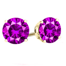 14 KARAT YELLOW GOLD PINK TOURMALINE 4-PRONG ROUND. Choose From 0.25 CTW To 10.00 CTW