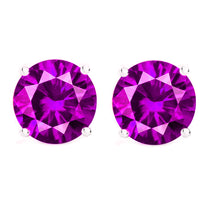 14 KARAT WHITE GOLD PINK TOURMALINE 4-PRONG ROUND. Choose From 0.25 CTW To 10.00 CTW