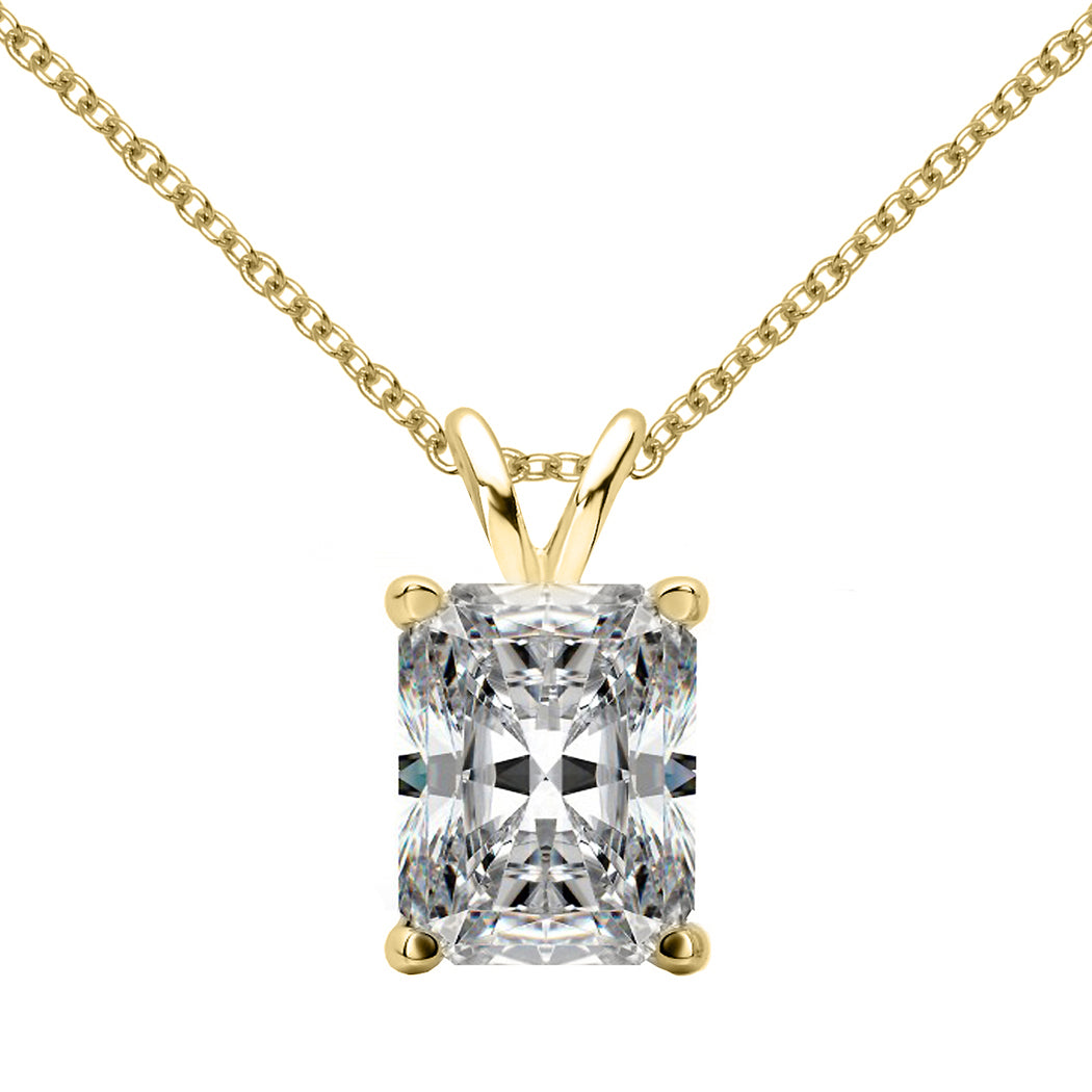 14 KARAT YELLOW GOLD RADIANT PENDANT WITH ROLO CHAIN. BUILD YOUR OWN PENDANT.