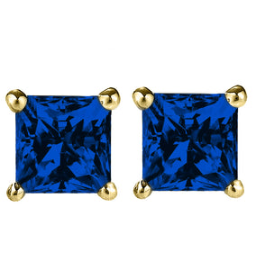 14 KARAT YELLOW GOLD SAPPHIRE PRINCESS. Choose From 0.25 CTW To 10.00 CTW