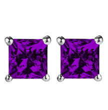 14 KARAT WHITE GOLD AMETHYST PRINCESS. Choose From 0.25 CTW To 10.00 CTW