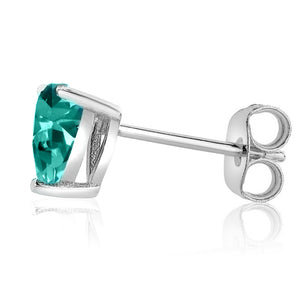 14 KARAT WHITE GOLD AQUAMARINE HEART. Choose From 0.25 CTW To 10.00 CTW