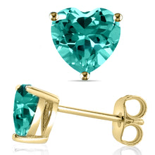 14 KARAT YELLOW GOLD AQUAMARINE HEART. Choose From 0.25 CTW To 10.00 CTW