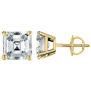 14 KARAT YELLOW GOLD ASSCHER 2.50 C.T.W