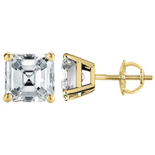 14 KARAT YELLOW GOLD ASSCHER 10.00 C.T.W