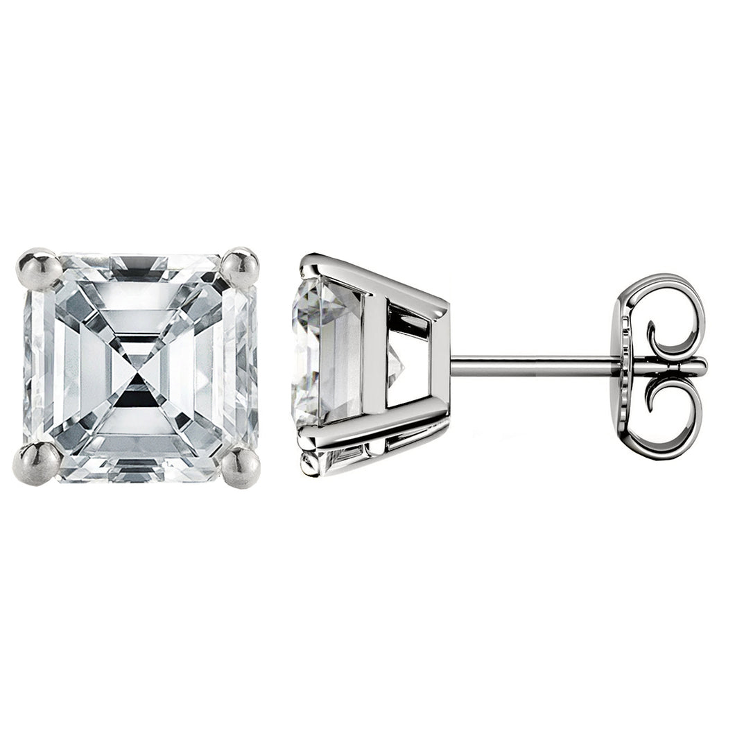PLATINUM 950 ASSCHER. Choose From 0.25 CTW To 10.00 CTW