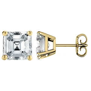 14 KARAT YELLOW GOLD ASSCHER 0.10 C.T.W