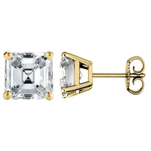 14 KARAT YELLOW GOLD ASSCHER 0.25 C.T.W
