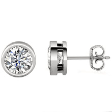18 KARAT WHITE GOLD OPEN BEZEL ROUND. Choose From 0.25 CTW To 10.00 CTW