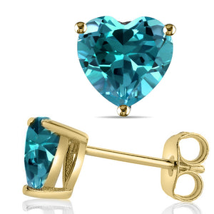 14 KARAT YELLOW GOLD BLUE TOPAZ. Choose From 0.25 CTW To 10.00 CTW
