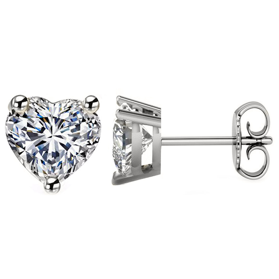 PLATINUM 950 HEART. Choose From 0.25 CTW To 10.00 CTW