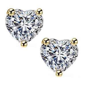 14 KARAT YELLOW GOLD HEART. Choose From 0.25 CTW To 10.00 CTW
