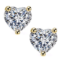 18 KARAT YELLOW GOLD HEART. Choose From 0.25 CTW To 10.00 CTW