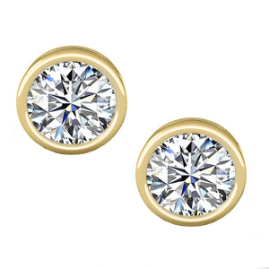 18 KARAT YELLOW GOLD OPEN BEZEL ROUND. Choose From 0.25 CTW To 10.00 CTW