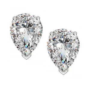 18 KARAT WHITE GOLD PEAR. Choose From 0.25 CTW To 10.00 CTW