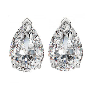 14 KARAT WHITE GOLD PEAR 5.00 C.T.W