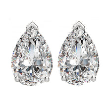 14 KARAT WHITE GOLD PEAR 4.00 C.T.W