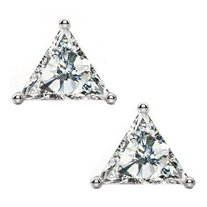 14 KARAT WHITE GOLD TRIANGLE 0.25 C.T.W