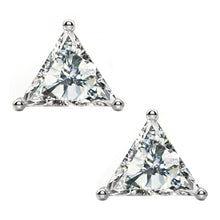 14 KARAT WHITE GOLD TRIANGLE 0.50 C.T.W