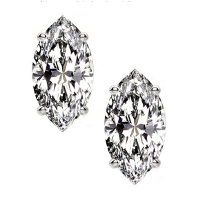 PLATINUM 950 MARQUISE. Choose From 0.25 CTW To 10.00 CTW