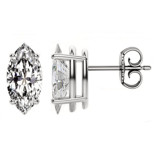 18 KARAT WHITE GOLD MARQUISE. Choose From 0.25 CTW To 10.00 CTW