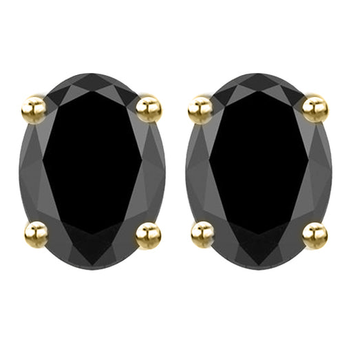 14 KARAT YELLOW GOLD BLACK OVAL. Choose From 0.25 CTW To 10.00 CTW