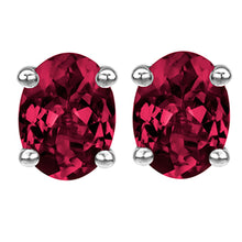 14 KARAT WHITE GOLD GARNET OVAL. Choose From 0.25 CTW To 10.00 CTW