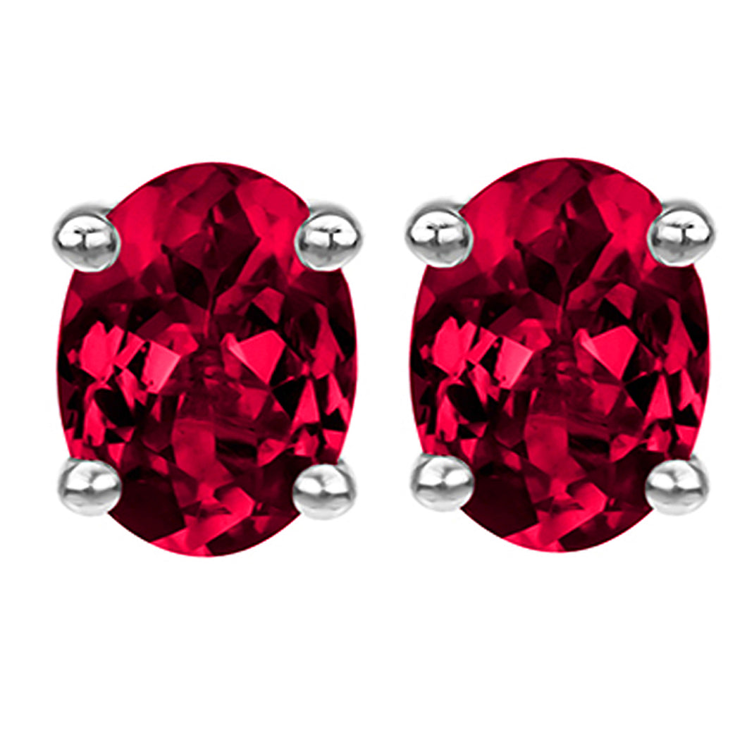 14 KARAT WHITE GOLD RUBY OVAL. Choose From 0.25 CTW To 10.00 CTW