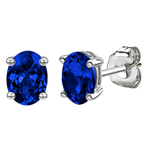 14 KARAT WHITE GOLD SAPPHIRE OVAL. Choose From 0.25 CTW To 10.00 CTW