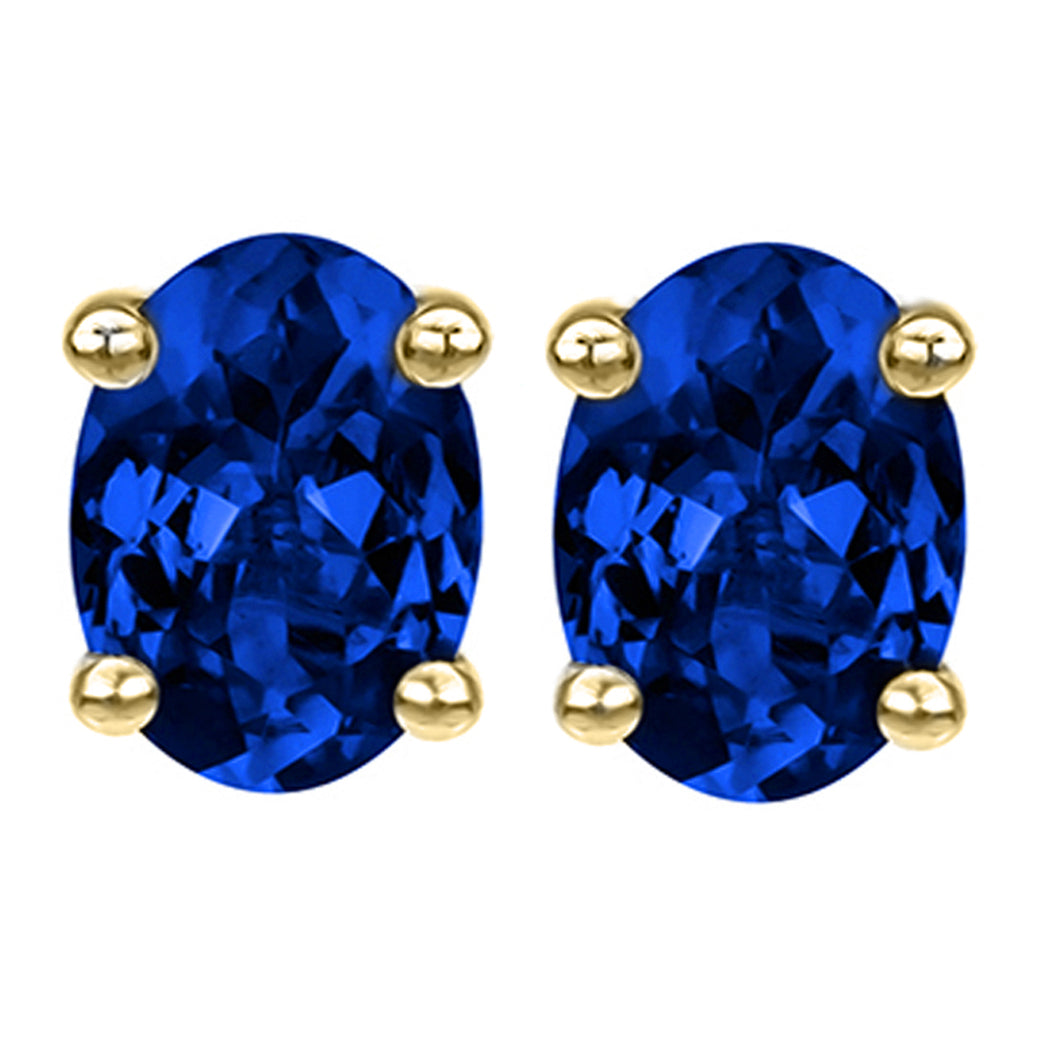 14 KARAT YELLOW GOLD SAPPHIRE OVAL. Choose From 0.25 CTW To 10.00 CTW