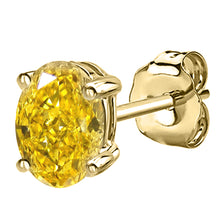 14 KARAT YELLOW GOLD CANARY OVAL. Choose From 0.25 CTW To 10.00 CTW