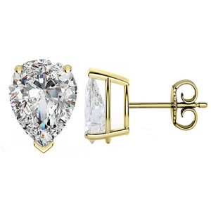 18 KARAT YELLOW GOLD PEAR. Choose From 0.25 CTW To 10.00 CTW