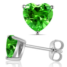 14 KARAT WHITE GOLD PERIDOT HEART. Choose From 0.25 CTW To 10.00 CTW