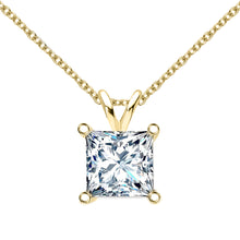 14 KARAT YELLOW GOLD PRINCESS PENDANT WITH ROLO CHAIN. BUILD YOUR OWN PENDANT.