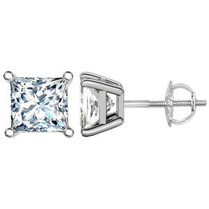 14 KARAT WHITE GOLD PRINCESS 5.00 C.T.W