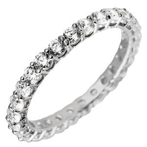 Eternity Band With Round Stones In 0.50 Carat Total Weight.