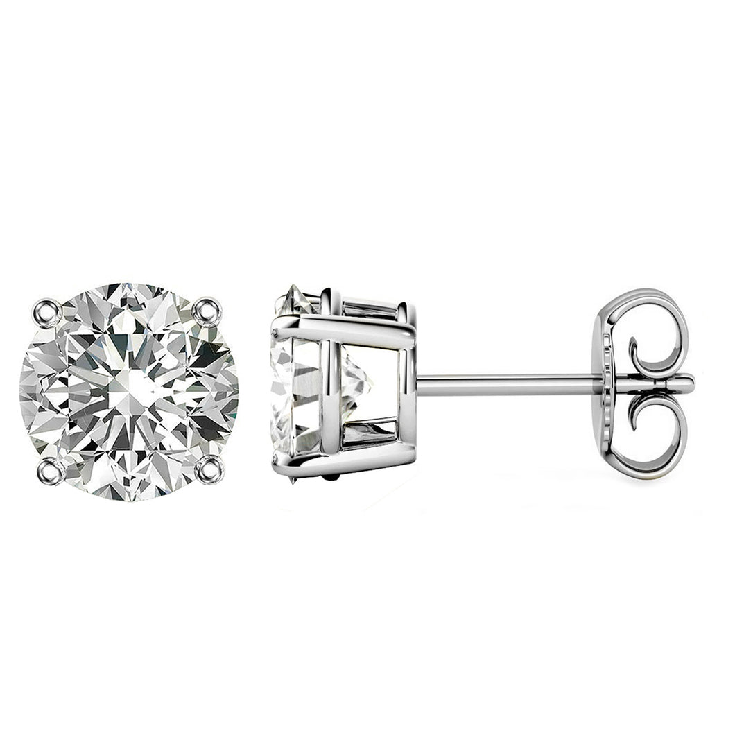 PLATINUM 950 4-PRONG ROUND. Choose From 0.25 CTW To 10.00 CTW