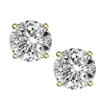 18 KARAT YELLOW GOLD 4-PRONG ROUND. Choose From 0.25 CTW To 10.00 CTW