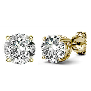 14 KARAT YELLOW GOLD 4-PRONG ROUND. Choose From 0.25 CTW To 10.00 CTW