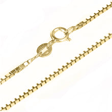 14 KARAT YELLOW GOLD PRINCESS PENDANT WITH BOX CHAIN. BUILD YOUR OWN PENDANT.