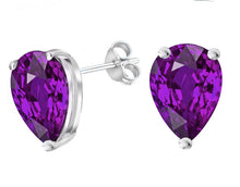 14 KARAT WHITE GOLD AMETHYST PEAR. Choose From 0.25 CTW To 10.00 CTW