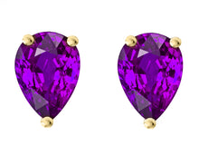 14 KARAT YELLOW GOLD AMETHYST PEAR. Choose From 0.25 CTW To 10.00 CTW