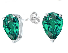 14 KARAT WHITE GOLD EMERALD PEAR. Choose From 0.25 CTW To 10.00 CTW