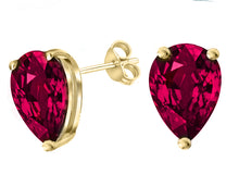 14 KARAT YELLOW GOLD RUBY PEAR. Choose From 0.25 CTW To 10.00 CTW