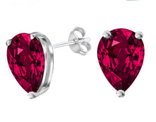 14 KARAT WHITE GOLD GARNET PEAR. Choose From 0.25 CTW To 10.00 CTW