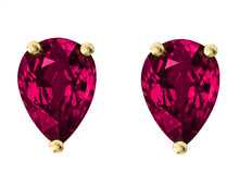 14 KARAT YELLOW GOLD GARNET PEAR. Choose From 0.25 CTW To 10.00 CTW