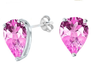 14 KARAT WHITE GOLD PINK TOURMALINE PEAR. Choose From 0.25 CTW To 10.00 CTW