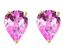 14 KARAT YELLOW GOLD PINK TOURMALINE PEAR. Choose From 0.25 CTW To 10.00 CTW