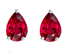 14 KARAT WHITE GOLD RUBY PEAR. Choose From 0.25 CTW To 10.00 CTW